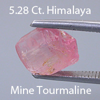 Fancy Round Brilliant Cut Toumaline, Himalaya Mine, California, U.S.A., 1.42 cts