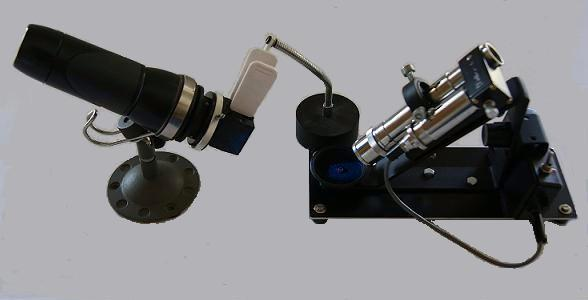 Copper sulphate filter and spectroscope - crossed filters testing