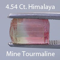 Bi-Color Tourmaline Cut Tourmaline, Himalaya Mine, California, U.S.A., 1.88 cts