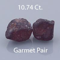 Square Barion Cut Malaya Garnet Pair, LikelyTanzania, 3.29  Total cts