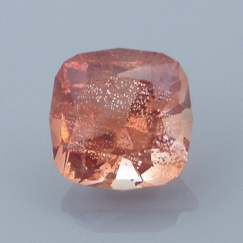 Finished version of Square Cushion Cut Sunstone