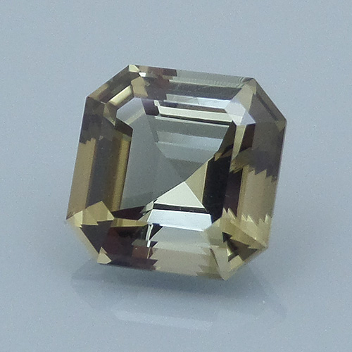Finished version of Square Emerald Cut Tourmaline