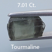 Rough version of Square Emerald Cut Tourmaline