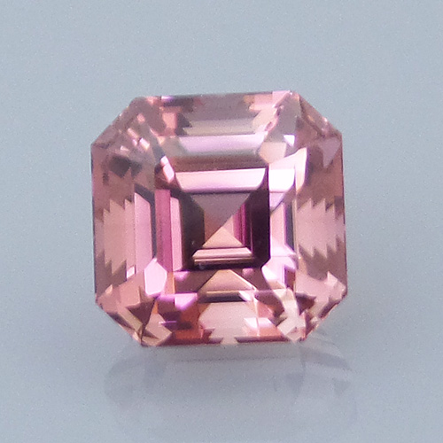 Finished version of Asscher Style Square Emerald Cut Tourmaline