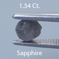 Rough version of Round Brilliant Cut Color Change Sapphire