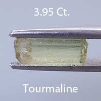 Rough version of Scissor Topped Emerald Cut Tourmaline