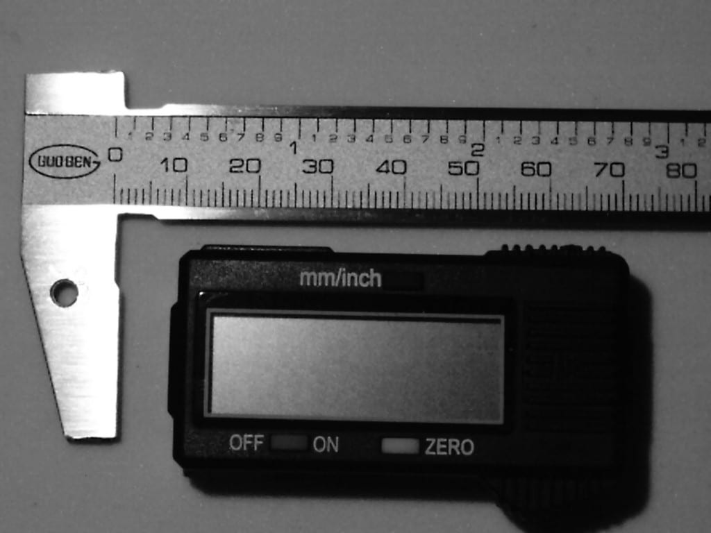 measuring OTL RI gemstones - disassembled caliper