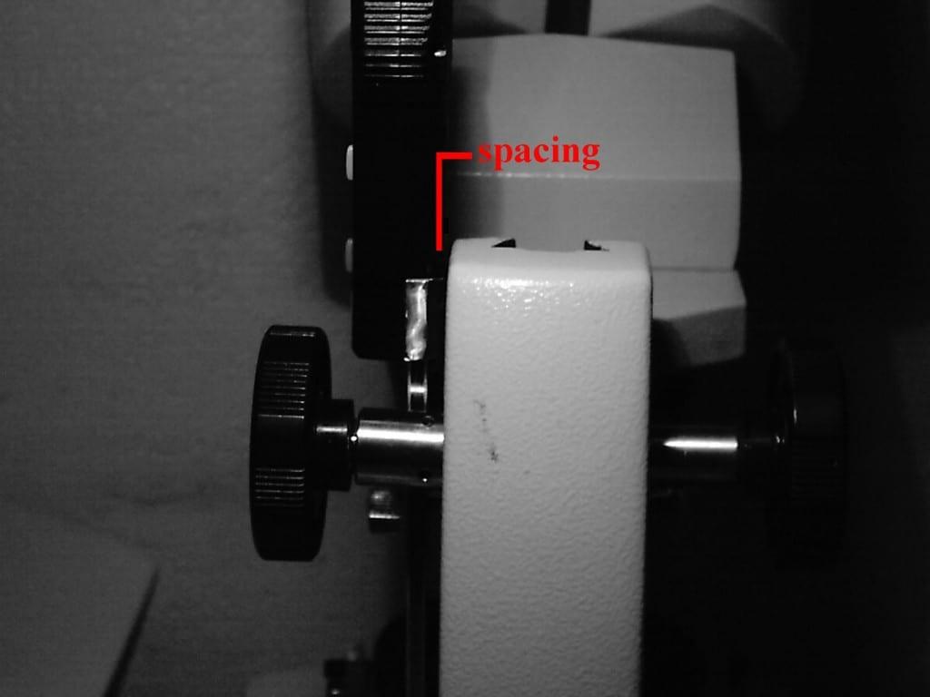 measuring OTL RI gemstones - space between caliper and microscope