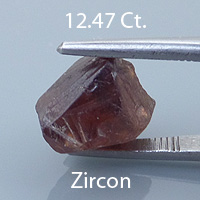 Rough version of Ultra Brilliant Cut Zircon