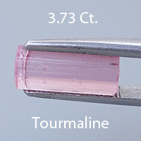 Rough version of Fancy Radiant Emerald Cut Tourmaline