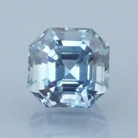 Finished version of Asscher Style Square Emerald Cut Sapphire