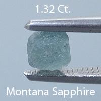 Asscher Style Square Emerald Cut Sapphire, Montana, U.S.A., .54 cts