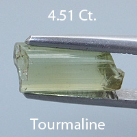 Rough version of Emerald Cut Tourmaline