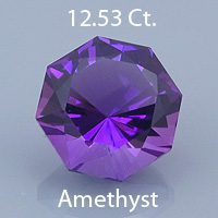 Fancy Brilliant Octagon Cut Natural Amethyst, Likely Africa, 11.67 cts