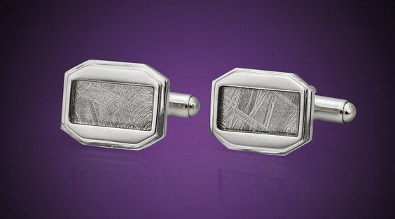 cufflinks - Muonionalusta meteorite