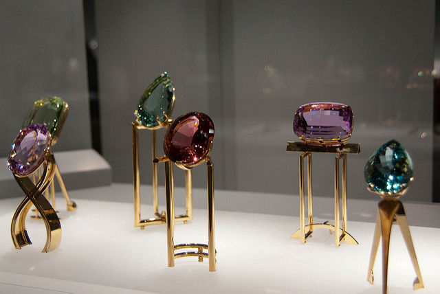 alternative birthstones - museum display