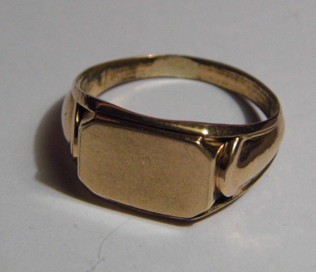 calculating gold karatage - gold-filled ring