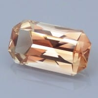 Finished version of Fancy Radiant Emerald Cut Sunstone