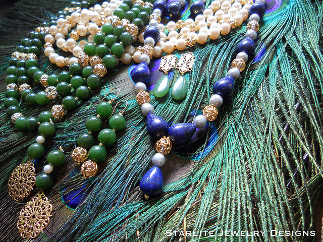 jade, lapis, and pearl jewelry - gemstone care guide