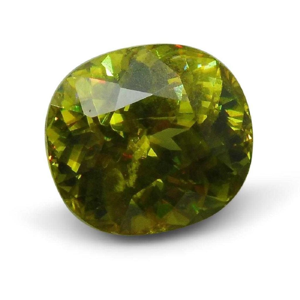 cushion-cut sphene, Pakistan - gemology career options