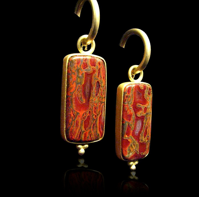 gem earrings - dinosaur gem bones