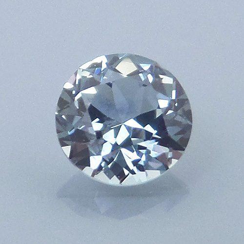 Fancy Round Brilliant Cut Sapphire, Montana, U.S.A., .43 cts