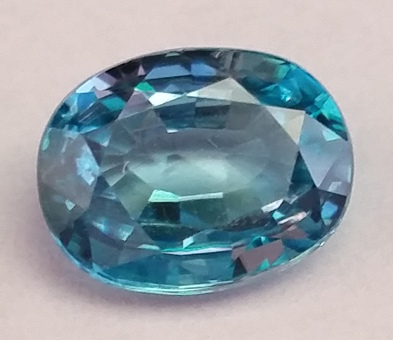 December birthstone - blue zircon
