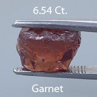 Rough version of Fancy Barion Square Cut Garnet