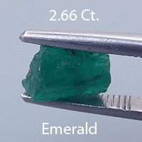 Fancy Round Brilliant Cut Emerald, Brazil, .51 cts