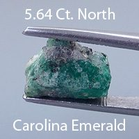 Buff Top Emerald Cut Emerald, North Carolina, U.S.A., 1.47 cts