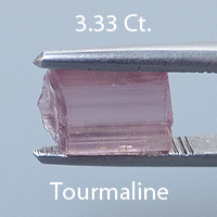 Rough version of Asscher Styke Square Emerald Cut Tourmaline
