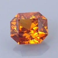 Fancy Brilliant Emerald Cut Spessartite Garnet