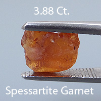 Rough version of Fancy Brilliant Emerald Cut Spessartite Garnet