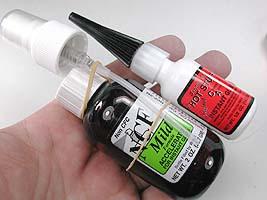 Super glue and accelerator