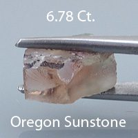 Rough version of Fancy Brilliant Emerald Cut Natural Sunstone