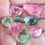 "Tourmalines are some of the best Afghan gemstones a beginning buyer can purchase. ""Tourmaline Rough, Afghanistan."""