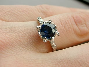 sapphire engagement ring - diamond online