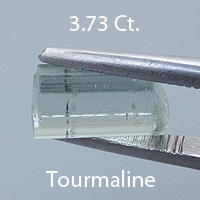 Rough version of Fancy Brilliant Emerald Cut Oyo Tourmaline