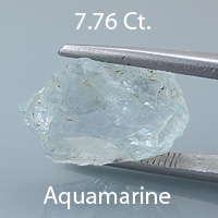 Rough version of Old European Cut Cut Aquamarine