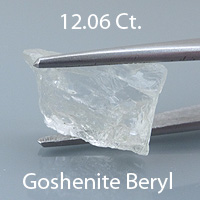Barion Square Cut Goshenite Beryl, Colombia, 2.47 cts