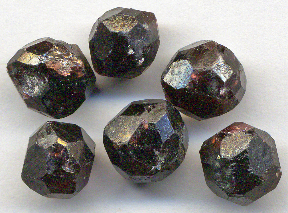 almandine garnet crystals - Alaska