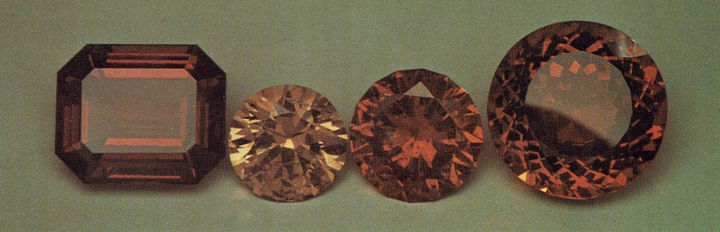 Faceted Hessonite - Brazil and Canada