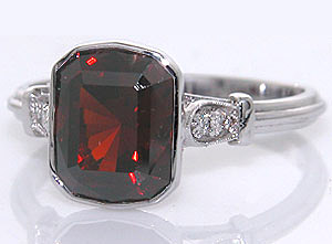 Malaia Garnet Ring