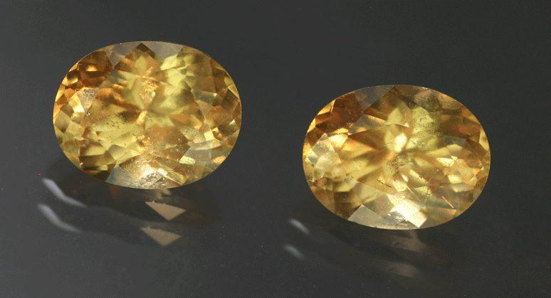 hessonite pair