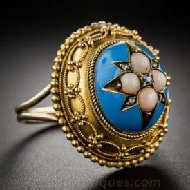 Etruscan motif – antique engagement rings