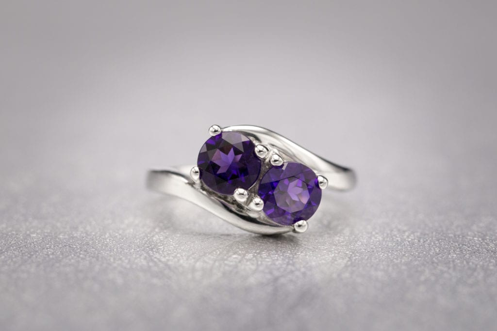amethysts - colored gemstone engagement rings