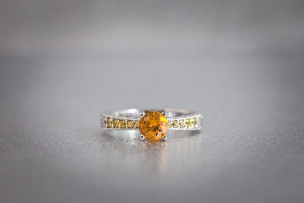 citrine - colored gemstone engagement rings