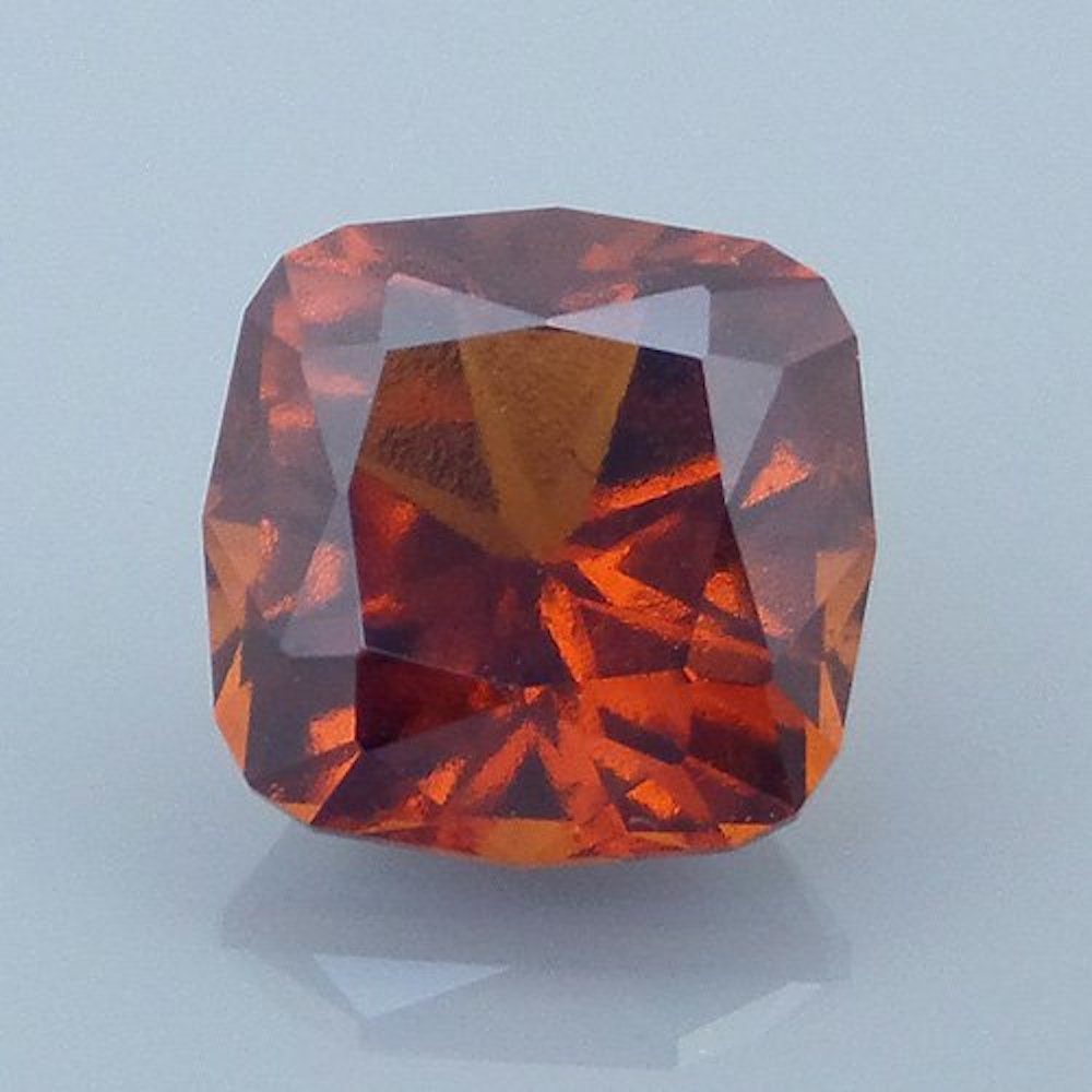 hessonite garnet - cushion cut, Tanzania