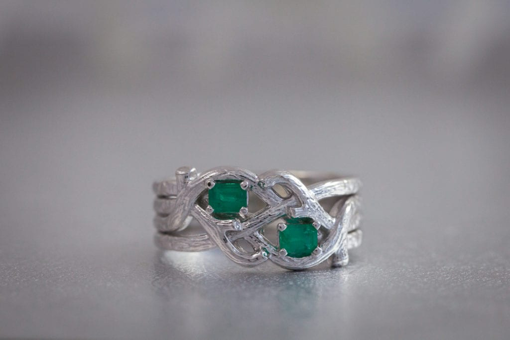 emeralds - colored gemstone engagement rings