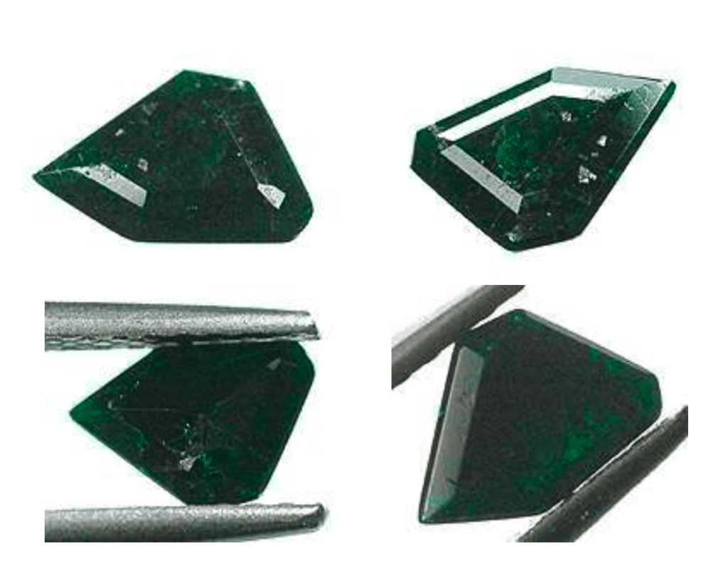 freeform faceted uvarovite - Finland